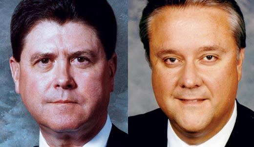 Democratic House Speaker Greg Stumbo (left) and Republican Senate President David Williams
