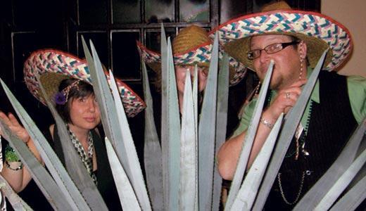Courtney, Sara and Matt crash the Green Tie Bash