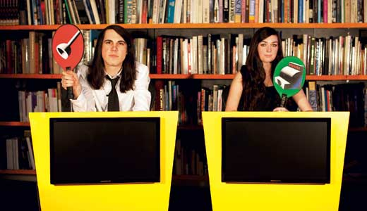 Brian Oblivion and Madeline Follin of Cults are closet game-show contestants.