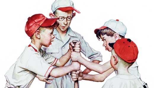 art-Norm-Rockwell-Four_Sporting_Boys