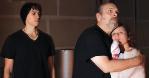 Zachary Burrell, Jon Huffman, Katherine Martin in 'Titus Andronicus'