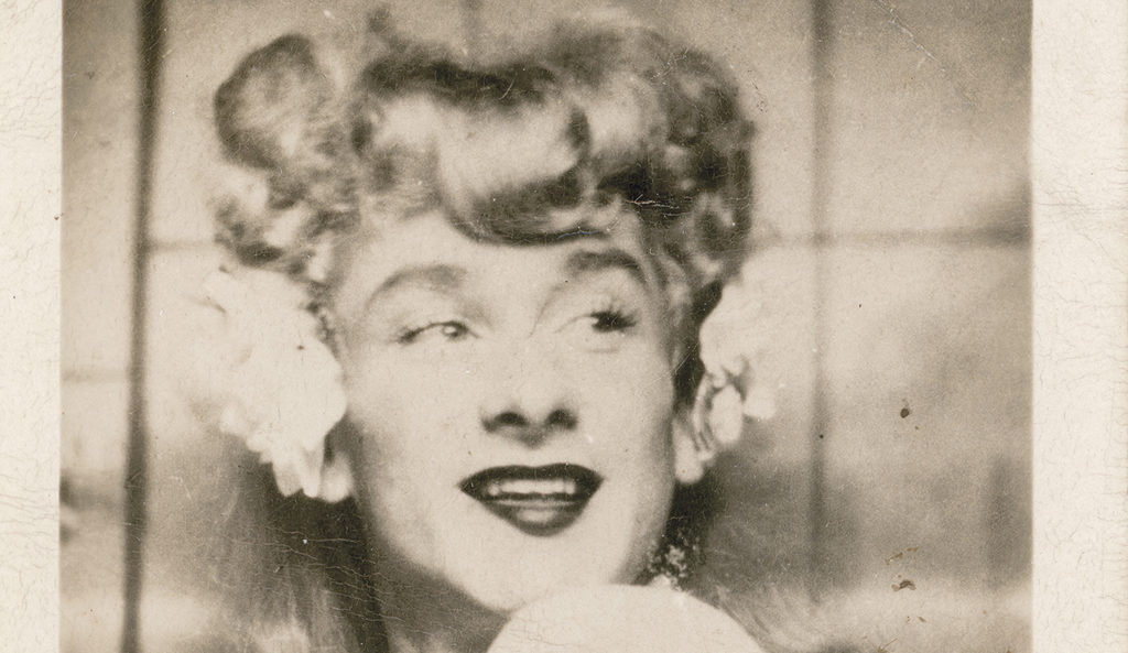 Henry Faulkner in drag, c. 1940s. Image courtesy of the Faulkner-Morgan Pagan Babies Archive.